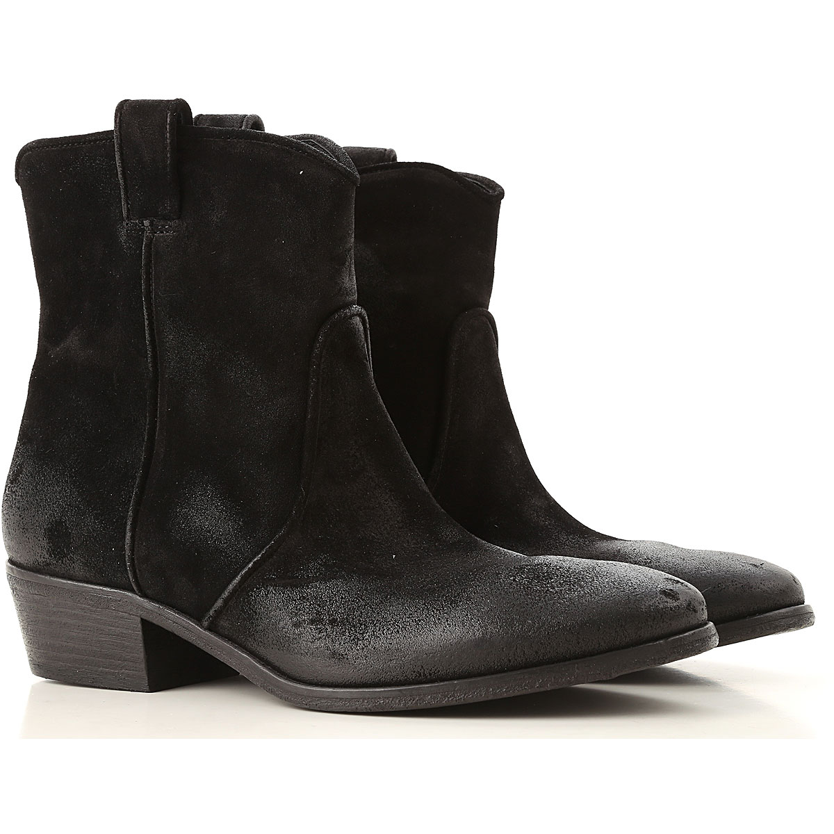 Image of Elena Iachi Boots for Women, Booties, Black, Suede leather, 2017, 6 7 8 9