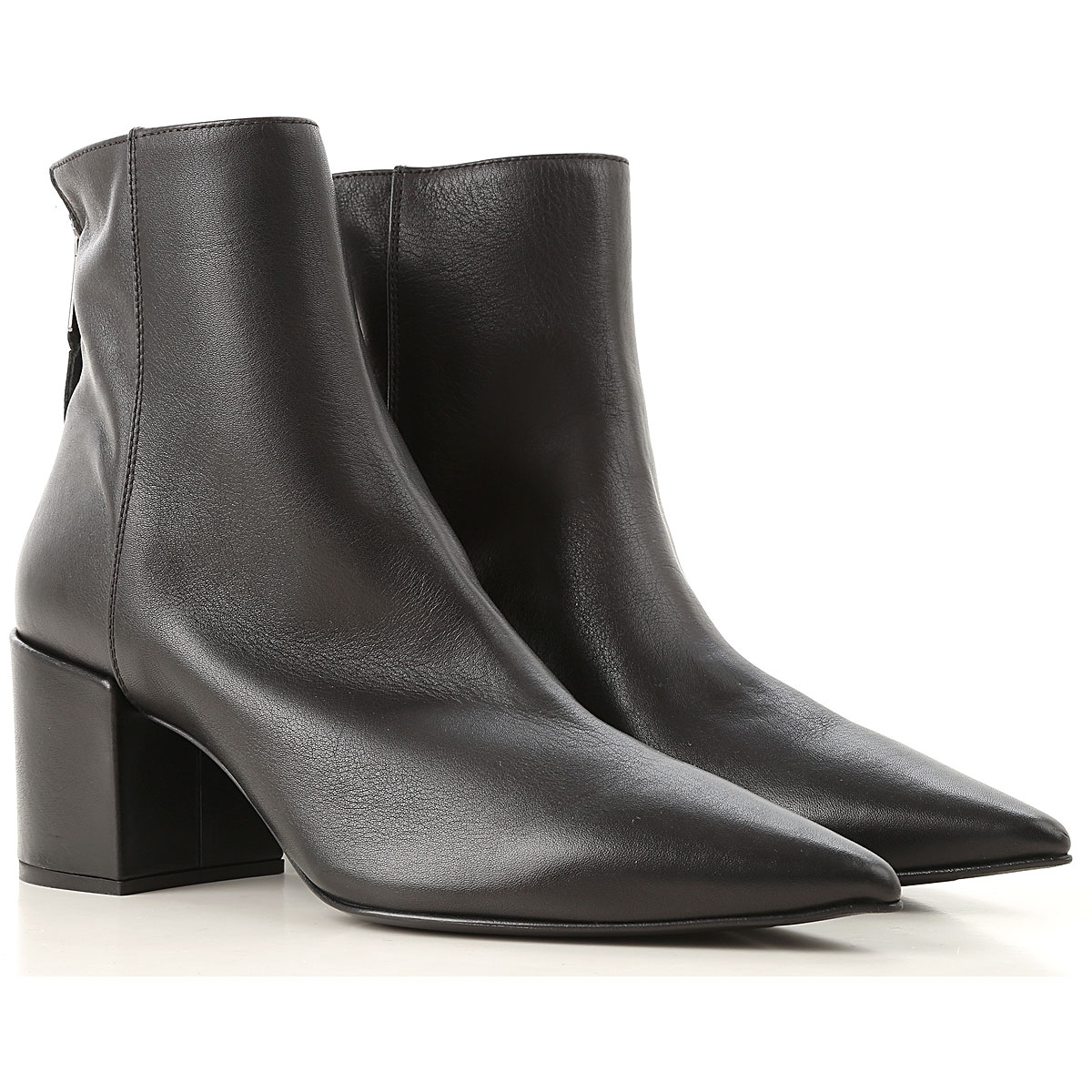 Image of Elena Iachi Boots for Women, Booties, Black, Leather, 2017, 10 6 7 8 9