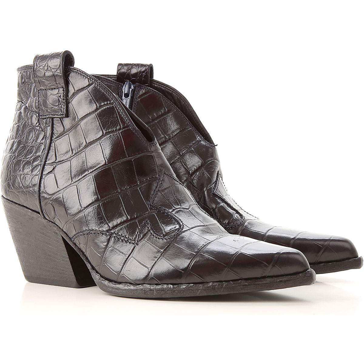 Elena Iachi Boots For Women, Booties On Sale, Black, Leather, 2019, 3.5 4.5 6 6.5 7 7.5