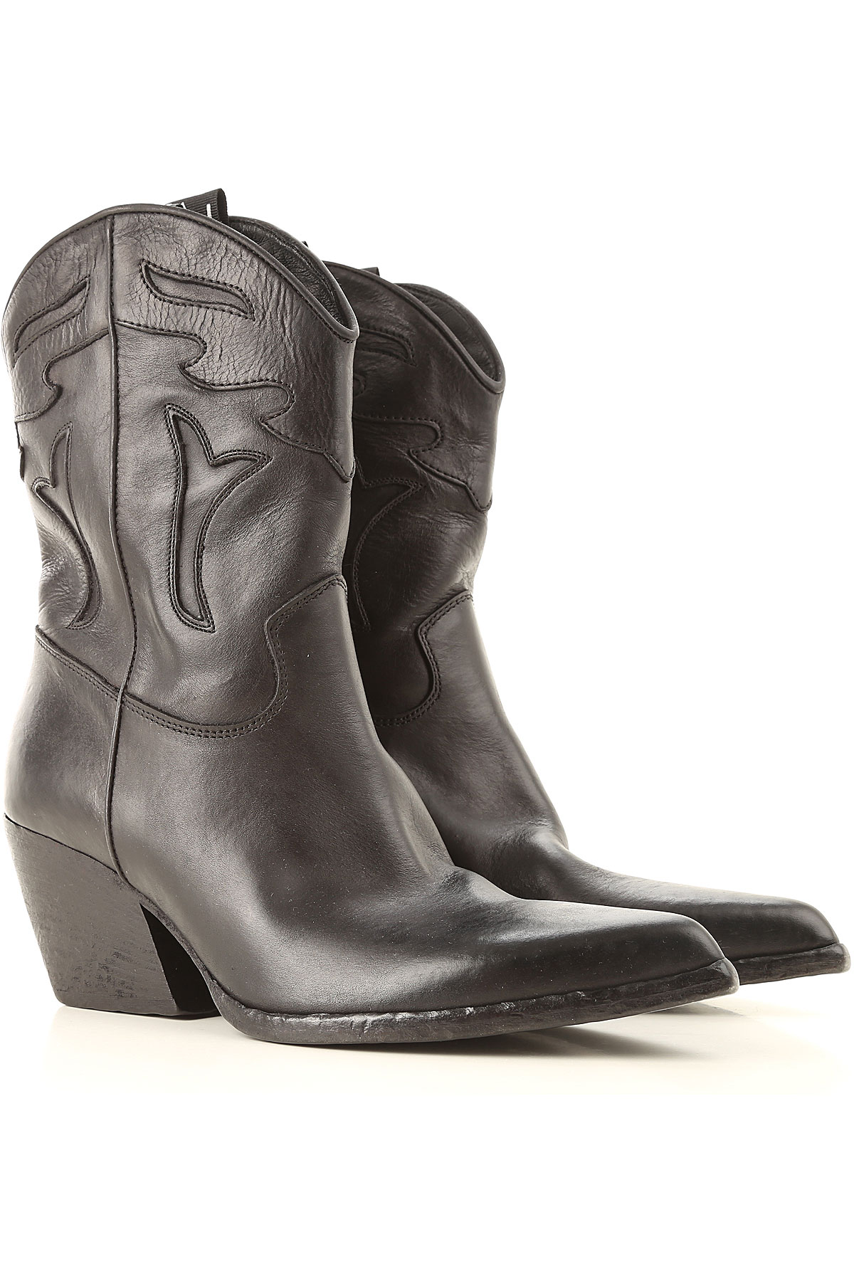 Elena Iachi Boots for Women, Booties On Sale, Black, Leather, 2019, 10 6 7 9