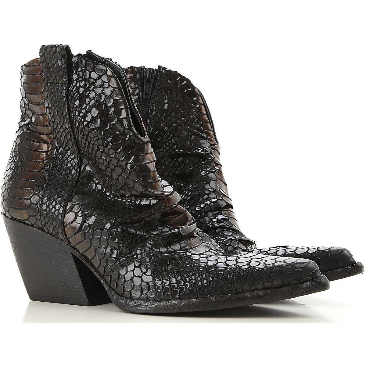Elena Iachi Boots for Women, Booties On Sale, Black, Leather, 2019, 10 11 7 8 9