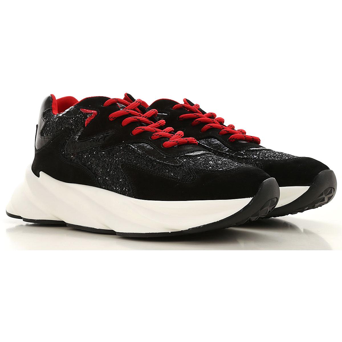 Elena Iachi Sneakers for Women On Sale, Black, Leather, 2019, 10 5 6 7 8 9