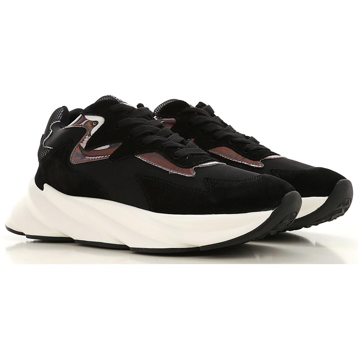 Elena Iachi Sneakers for Women On Sale, Black, Leather, 2019, 10 7 8 9
