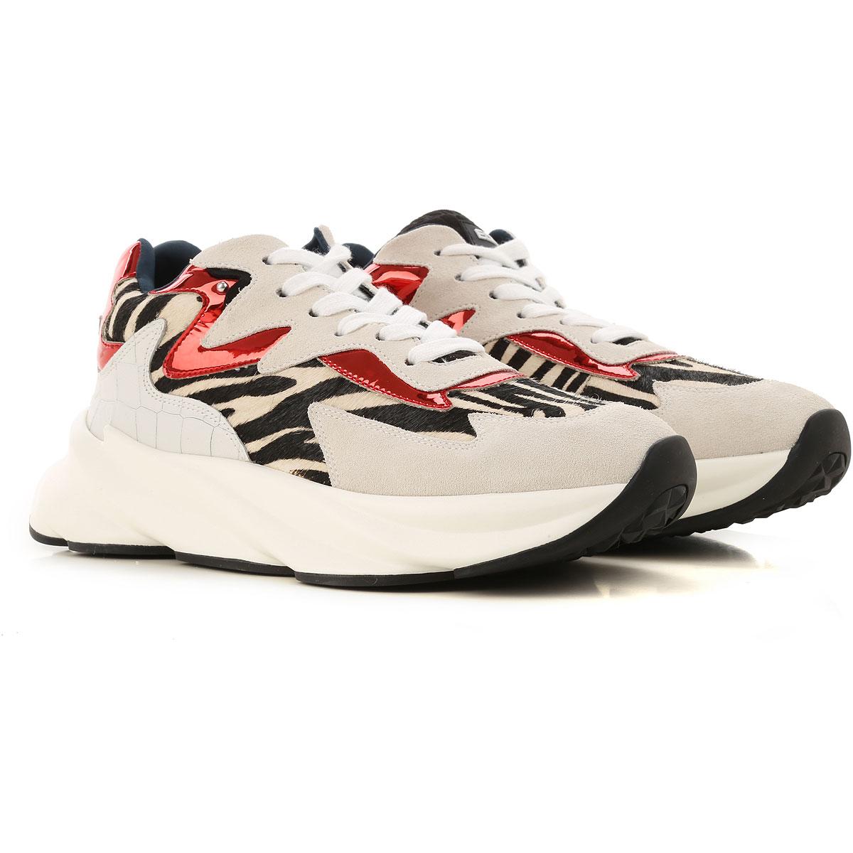 Elena Iachi Sneakers for Women On Sale, Zebra-Striped, Leather, 2019, 10 5 6 7 8 9