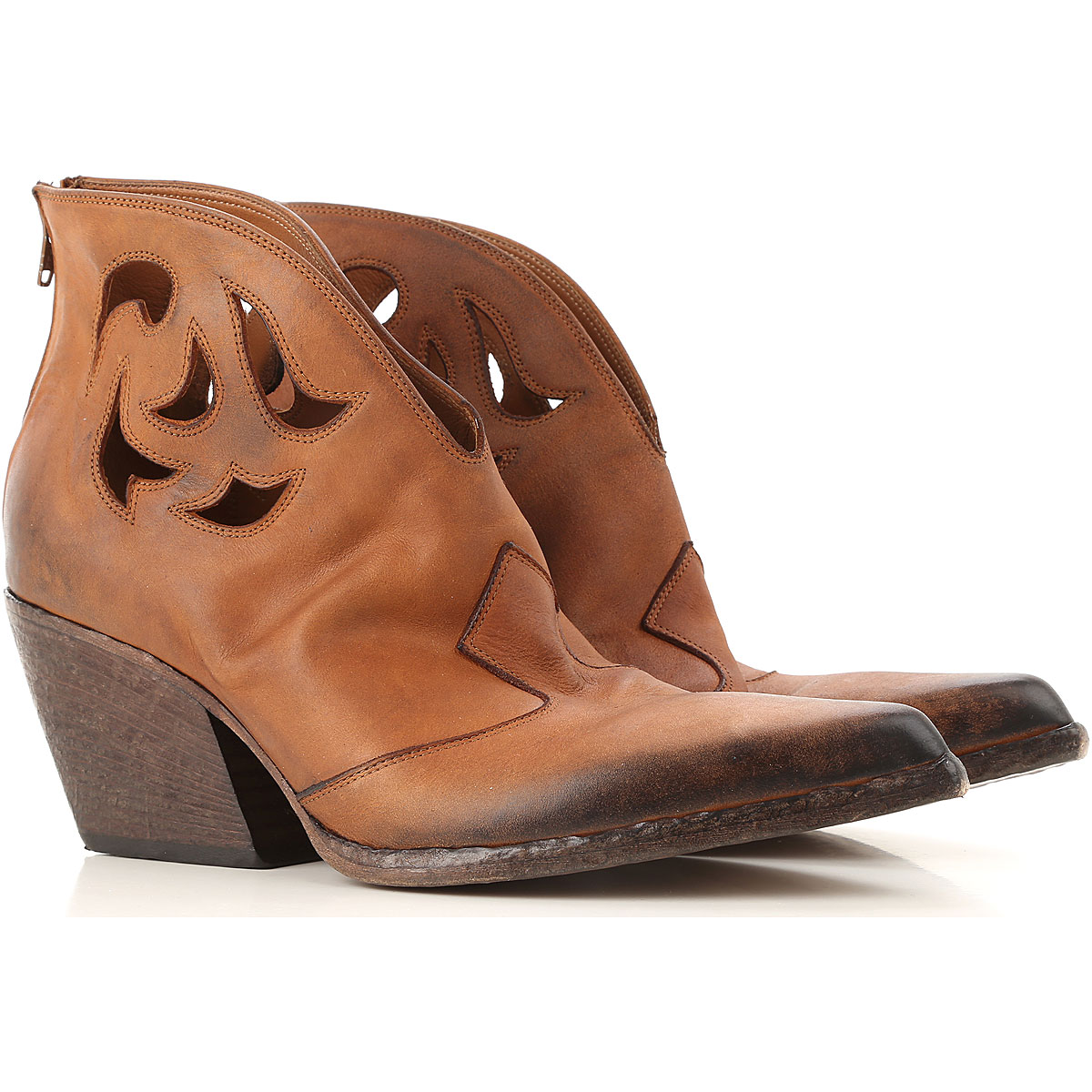 Elena Iachi Boots for Women, Booties On Sale, Cork, Leather, 2019, 8 9