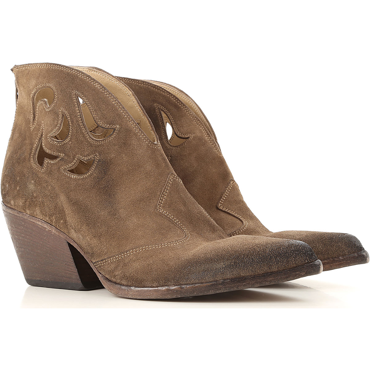 Elena Iachi Boots for Women, Booties On Sale, Dark Brown, Leather, 2019, 10 7 9