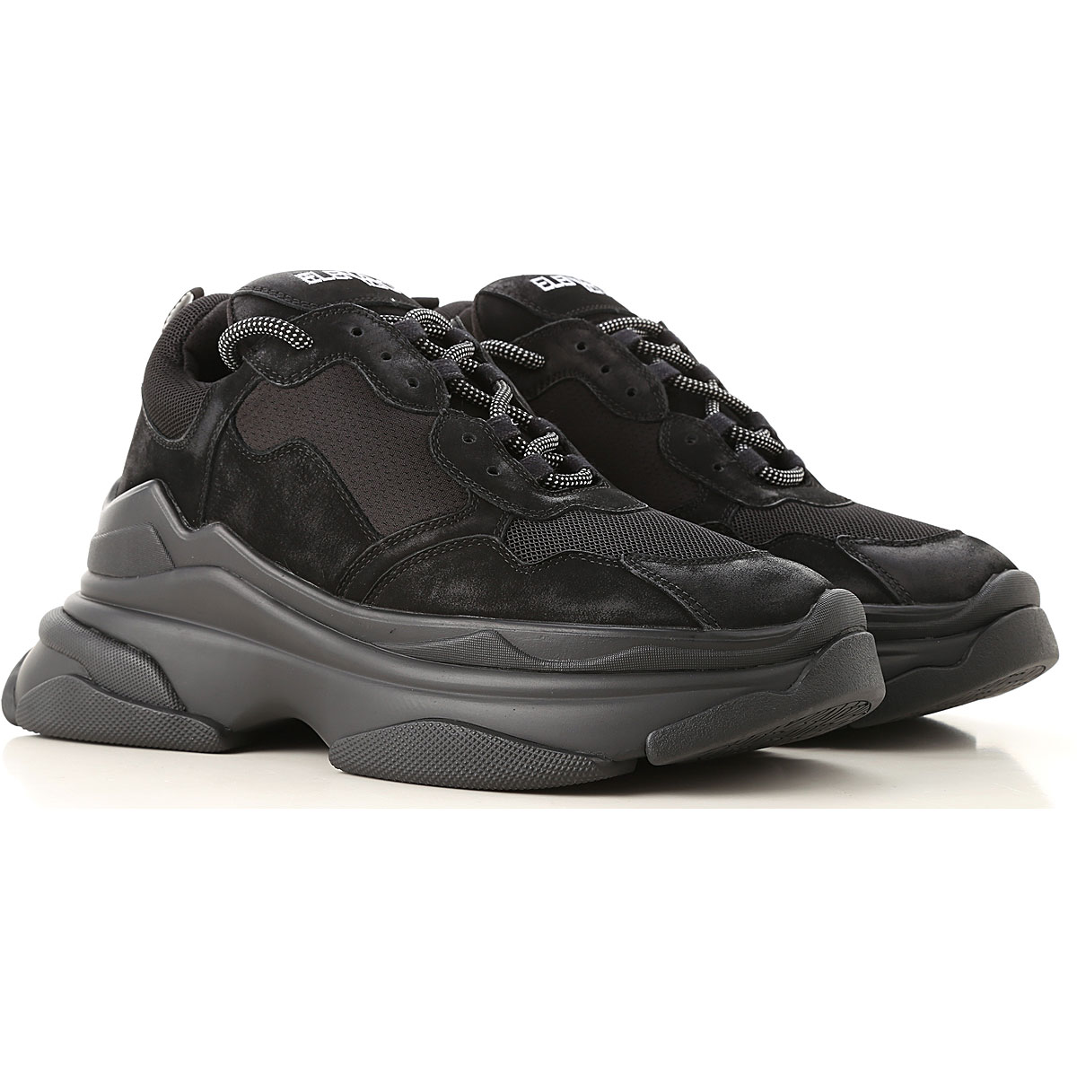 Image of Elena Iachi Sneakers for Women, Black, Fabric, 2017, 10 6 7 8 9