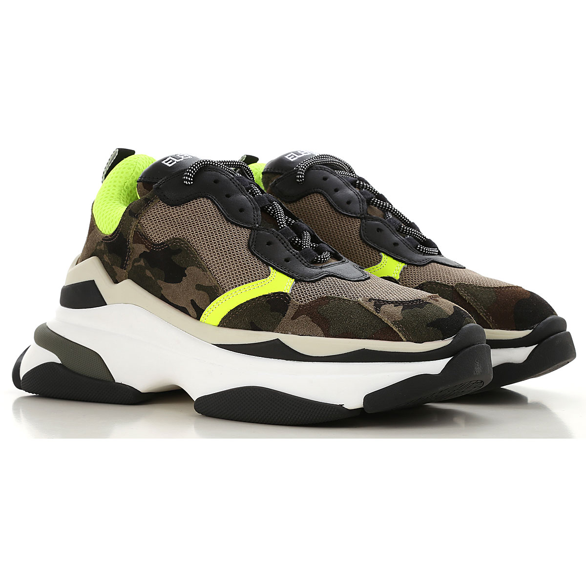 Image of Elena Iachi Sneakers for Women, camouflage, Fabric, 2017, 10 6 7 8 9