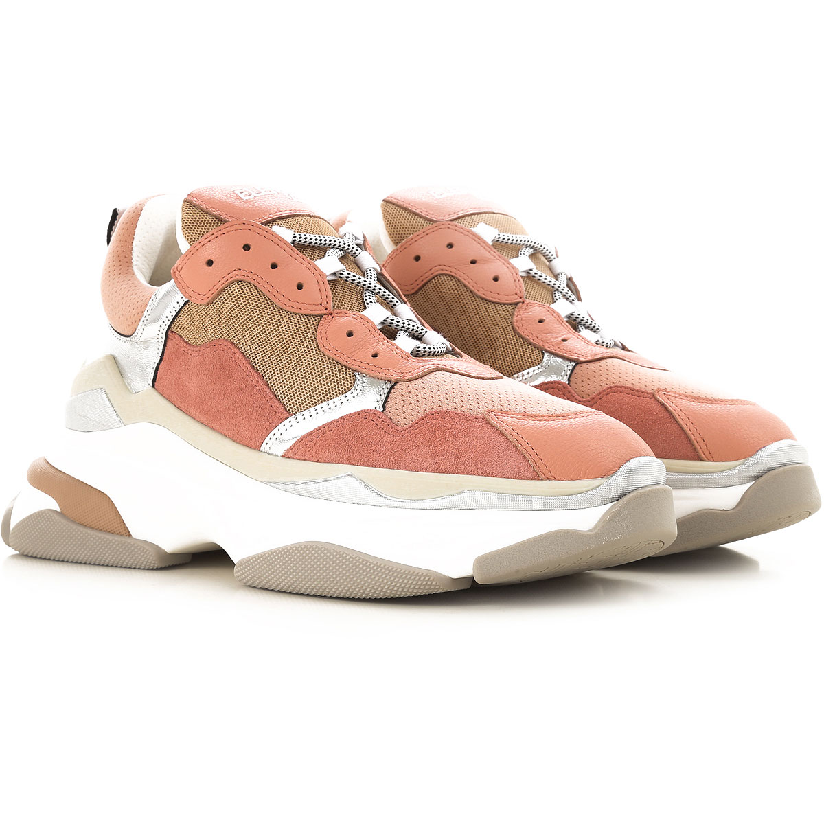 Image of Elena Iachi Sneakers for Women, Pink, Fabric, 2017, 10 6 7 8 9