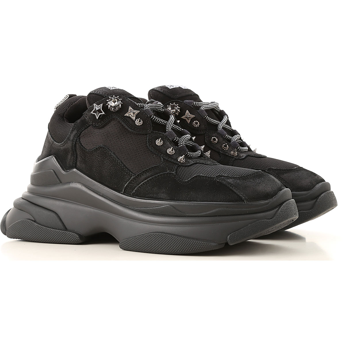 Elena Iachi Sneakers for Women On Sale, Black, Leather, 2019, 10 8 9