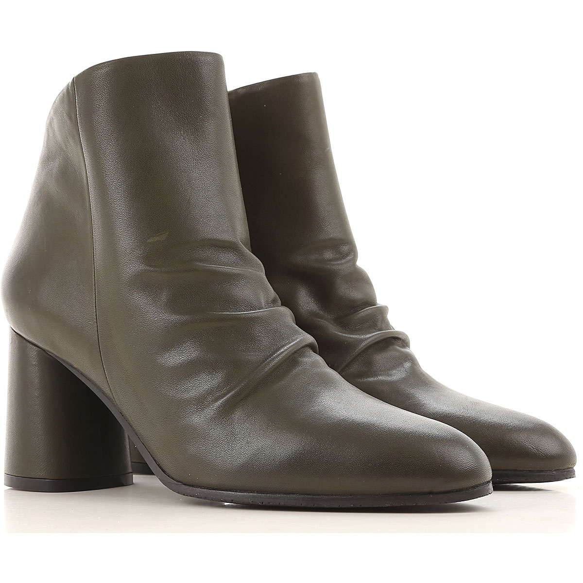 Elvio Zanon Boots for Women, Booties On Sale in Outlet, Forest Green, Nappa Leather, 2019, 10 7 8 9