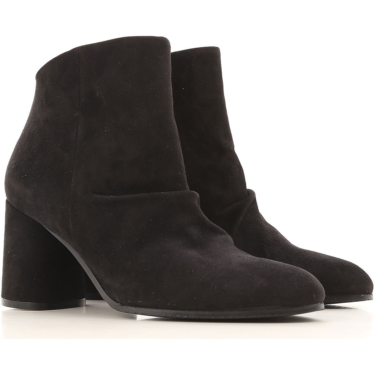 Elvio Zanon Boots for Women, Booties On Sale in Outlet, Black, Suede leather, 2019, 10 7 8