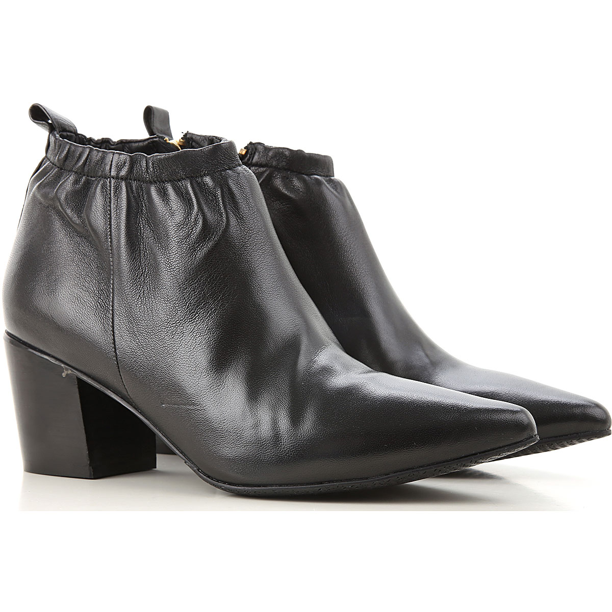 Elvio Zanon Boots for Women, Booties On Sale, Black, Leather, 2019, 10 11 6 9
