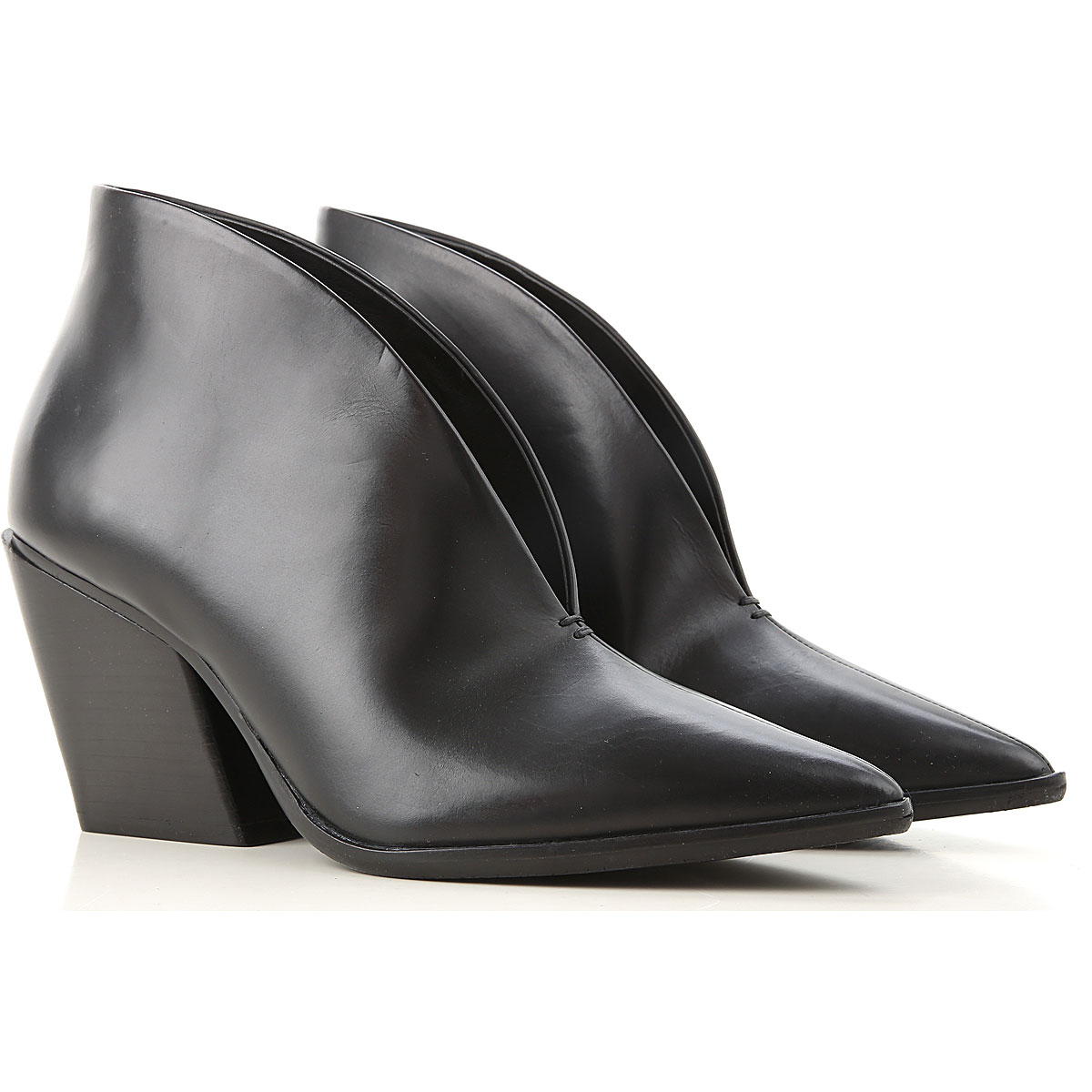 Elvio Zanon Boots for Women, Booties On Sale, Black, Leather, 2019, 6 9