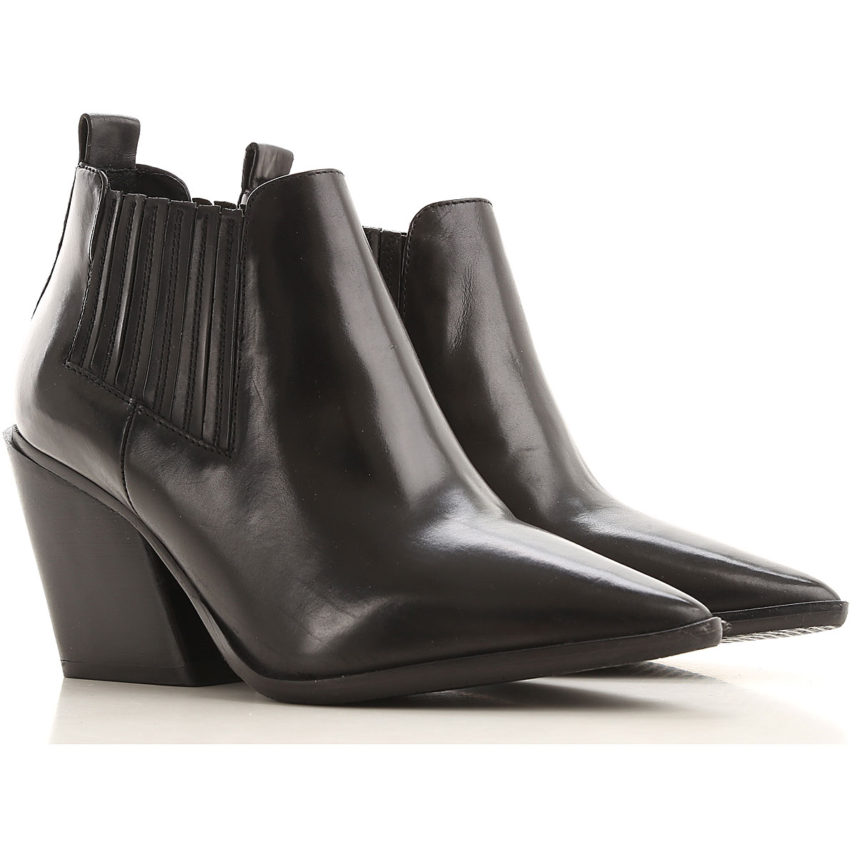 Elvio Zanon Boots for Women, Booties On Sale in Outlet, Black, Nappa Leather, 2019, 10 6 7 8 9