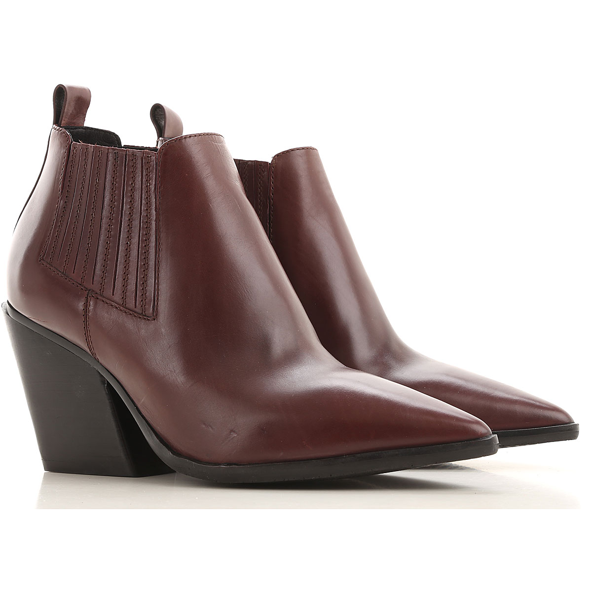 Elvio Zanon Boots for Women, Booties On Sale in Outlet, Plum, Nappa Leather, 2019, 6 7 8 9