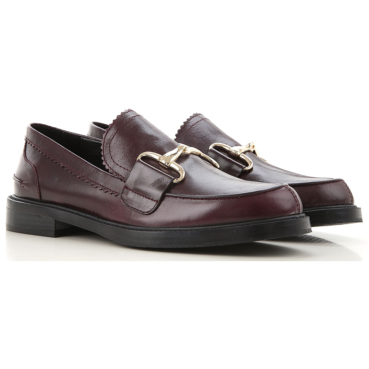 Elvio Zanon Loafers for Women On Sale, Prune, Leather, 2019, 10 11 9