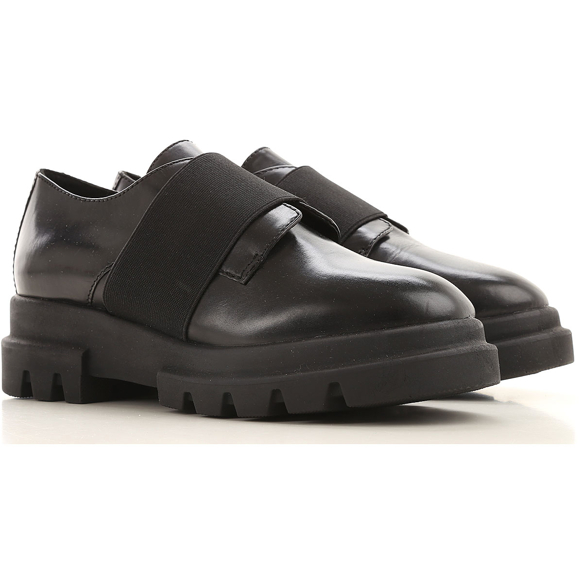 Elvio Zanon Loafers for Women On Sale in Outlet, Black, Leather, 2019, 11 6 7 8