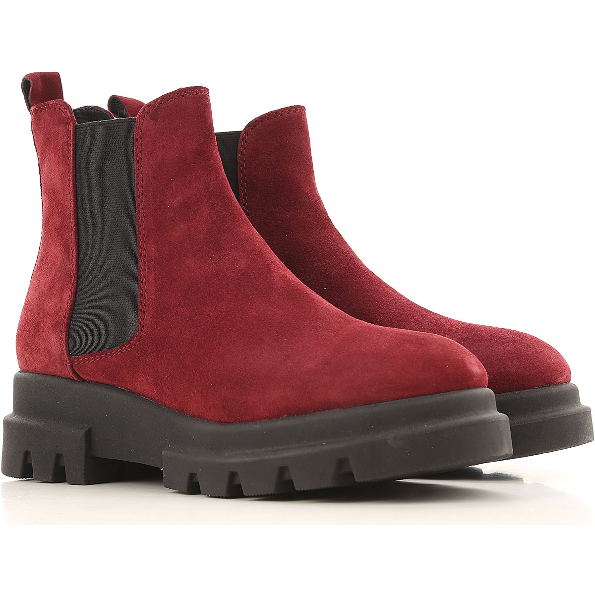 Elvio Zanon Boots for Women, Booties On Sale in Outlet, Plum, Suede leather, 2019, 10 7 9