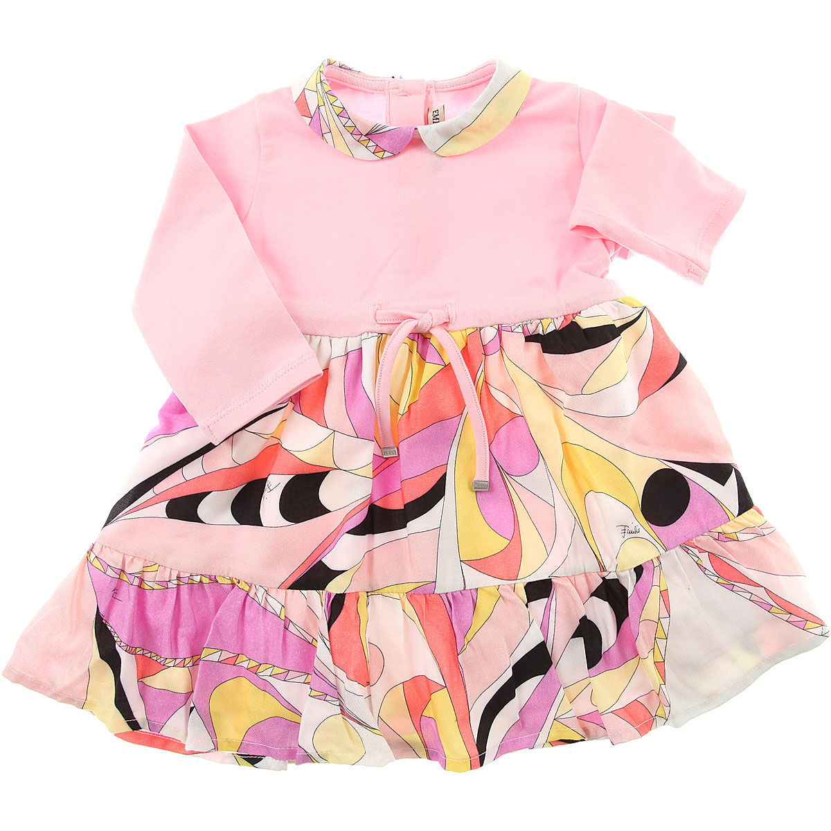 Image of Emilio Pucci Baby Dress for Girls, Pink, Cotton, 2017, 12M 18M 2Y 6M 9M