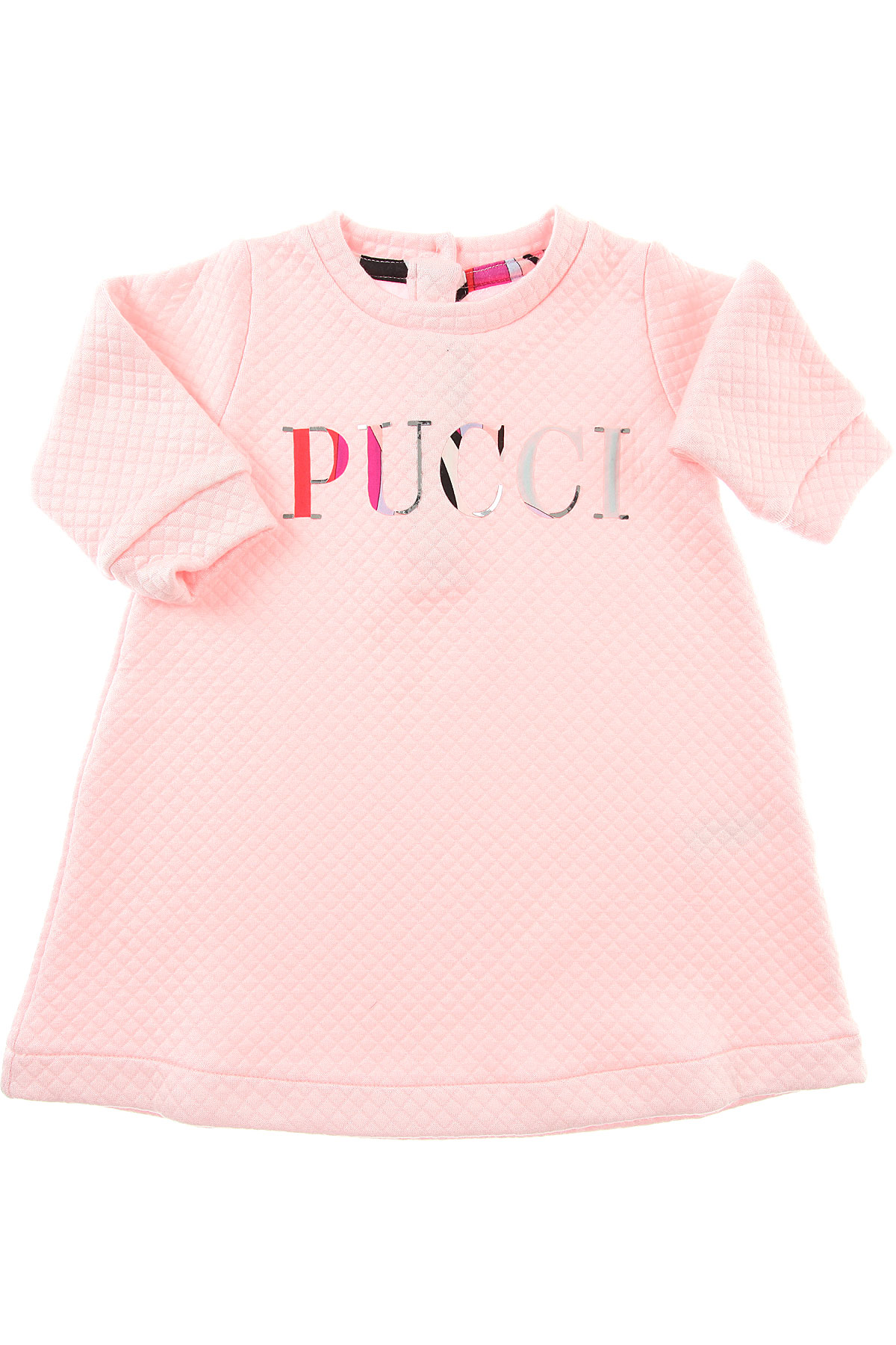 Image of Emilio Pucci Baby Dress for Girls, Pink, polyamide, 2017, 12M 18M 2Y 6M 9M