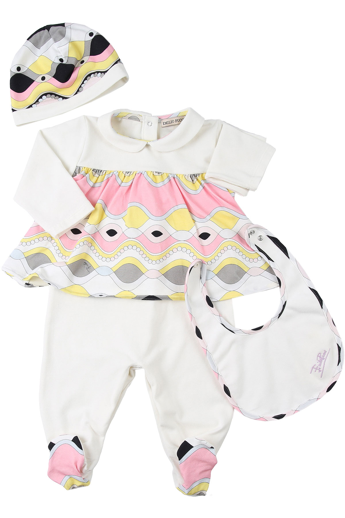 Emilio Pucci Baby Sets for Girls On Sale, White, Cotton, 2019, 3M 6M