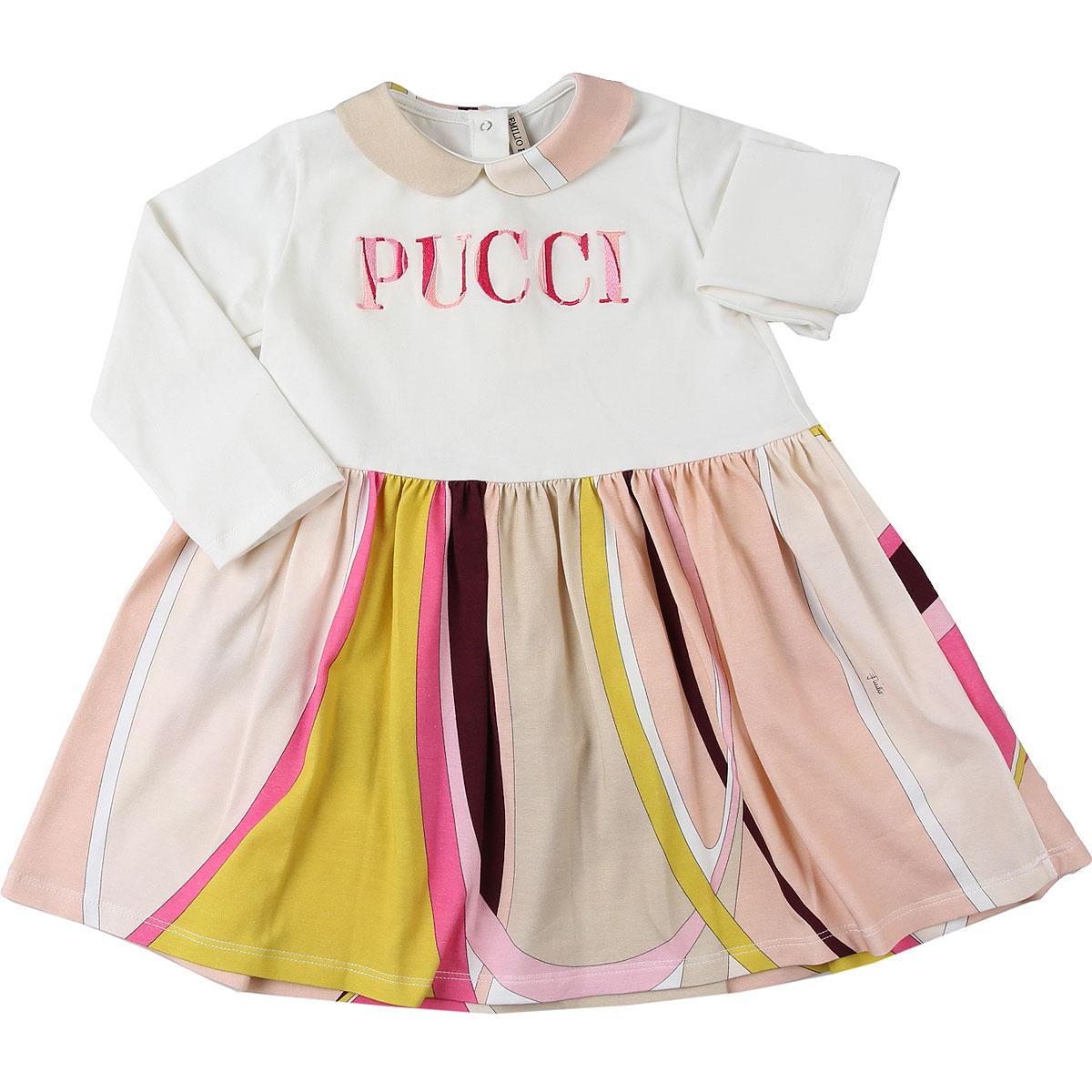 Emilio Pucci Baby Dress for Girls On Sale, Multicolor, Cotton, 2019, 12M 18M 2Y 6M 9M