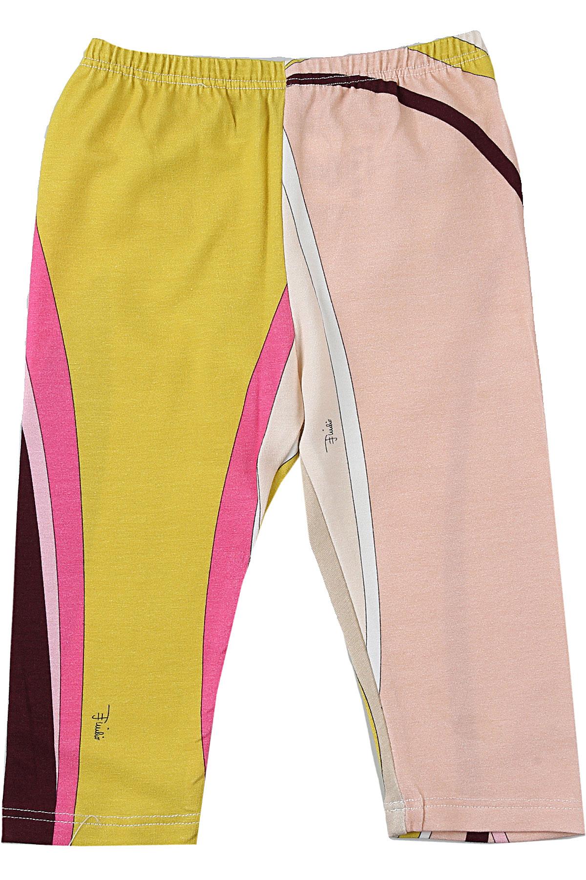 Emilio Pucci Baby Pants for Girls On Sale, Multicolor, Cotton, 2019, 12M 18M 2Y 3M