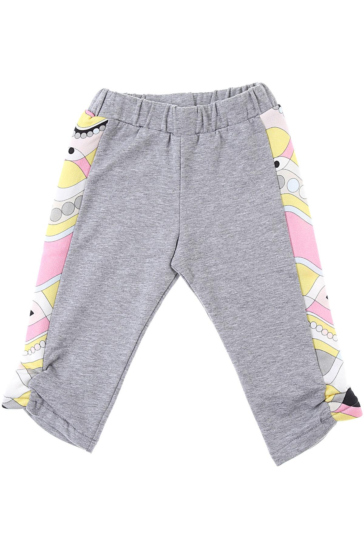 Emilio Pucci Baby Sweatpants for Girls On Sale, Grey, Cotton, 2019, 12M 18M 2Y 6M 9M