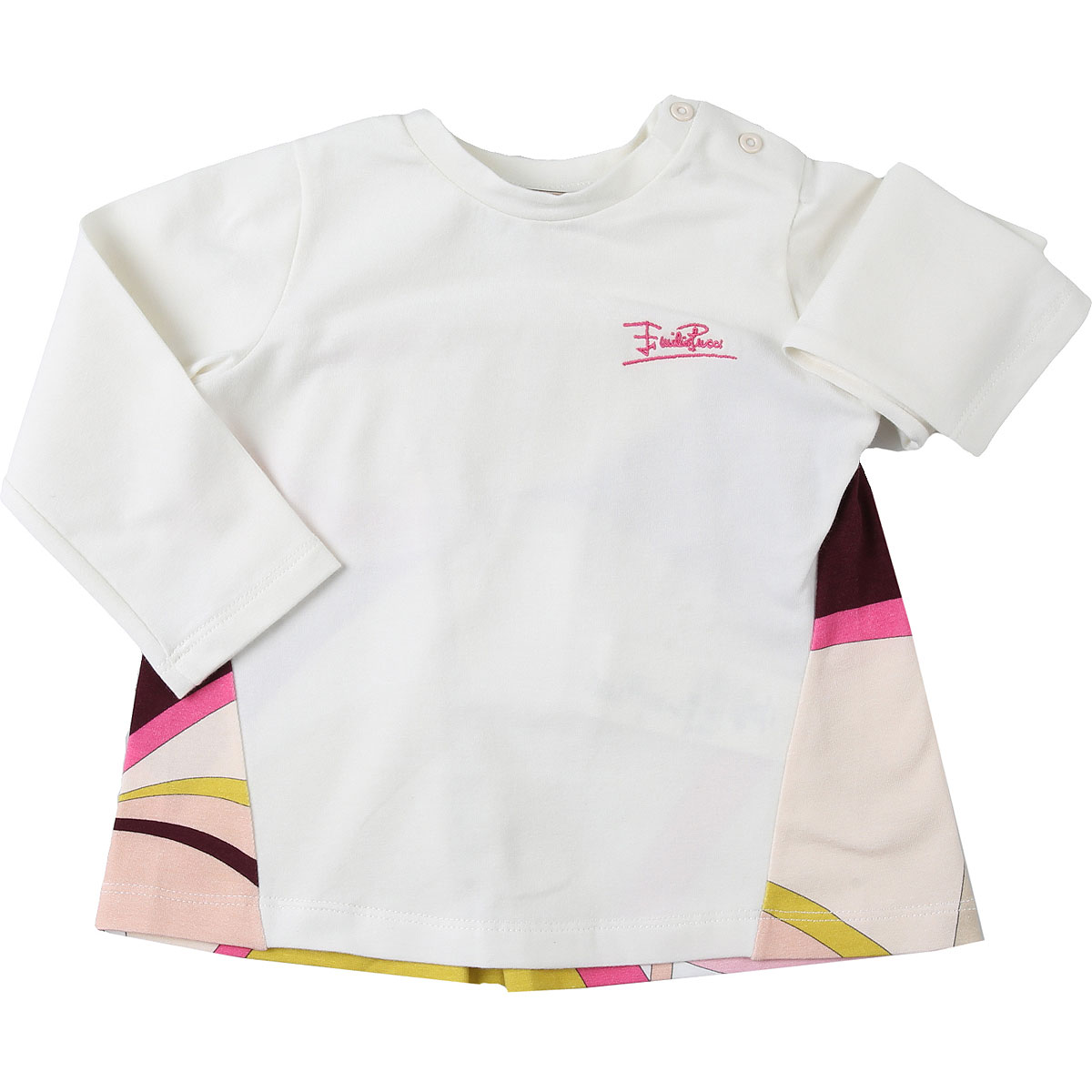 Emilio Pucci Baby T-Shirt for Girls On Sale, Cream, Cotton, 2019, 12M 18M 2Y
