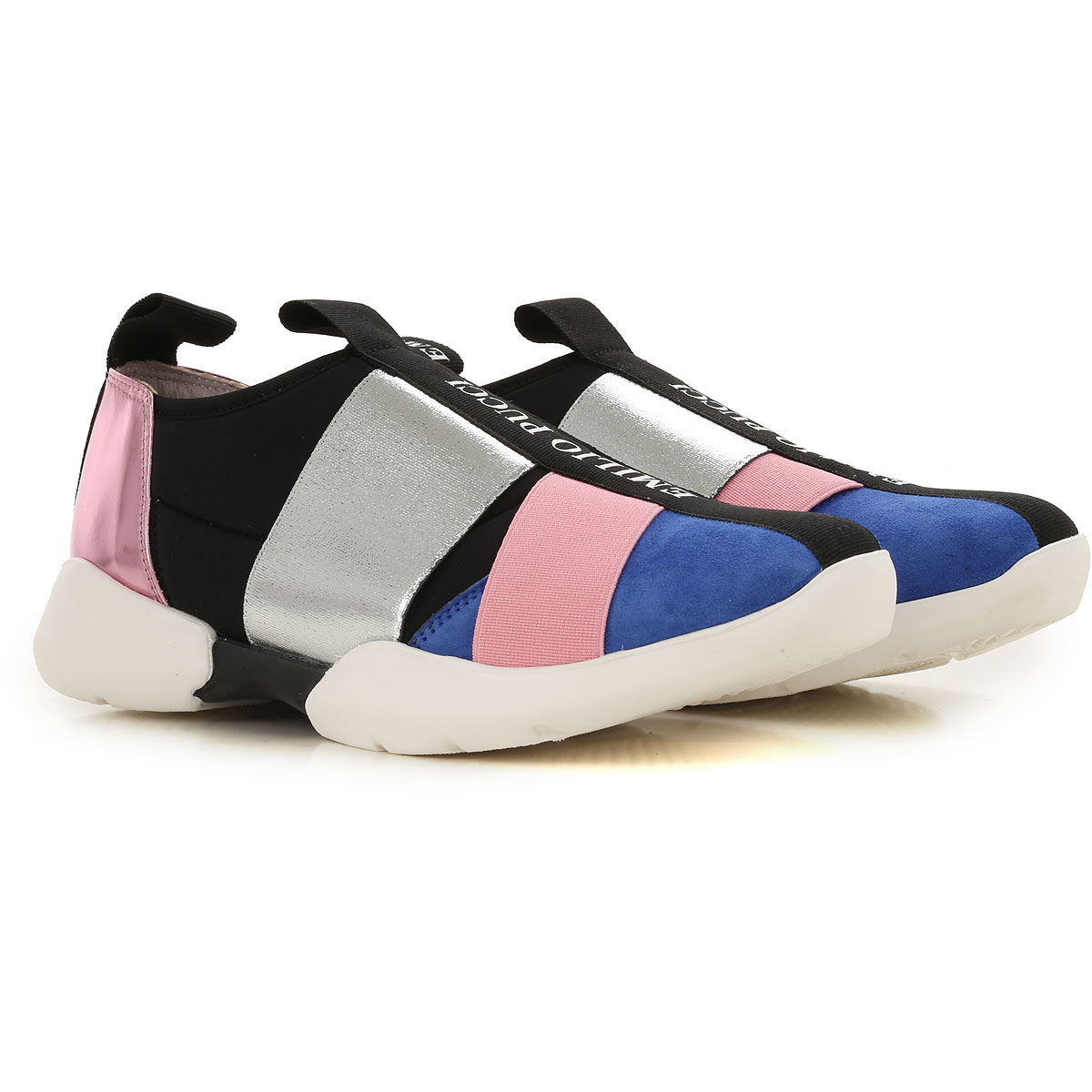 Image of Emilio Pucci Sneakers, Silver, polyurethane, 2017, 31 32 33 34 35