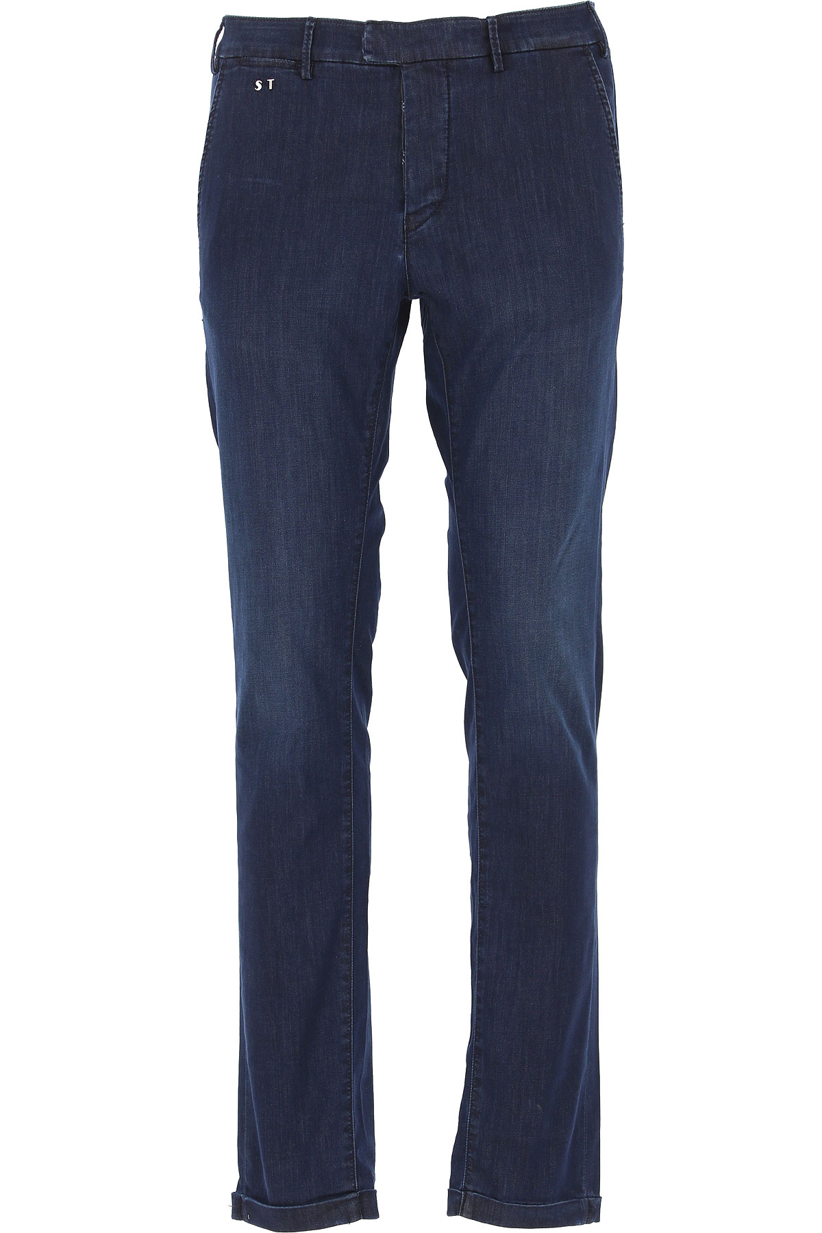 Entre Amis Pants for Men, Midnight Blue, Cotton, 2019, 32 33 40