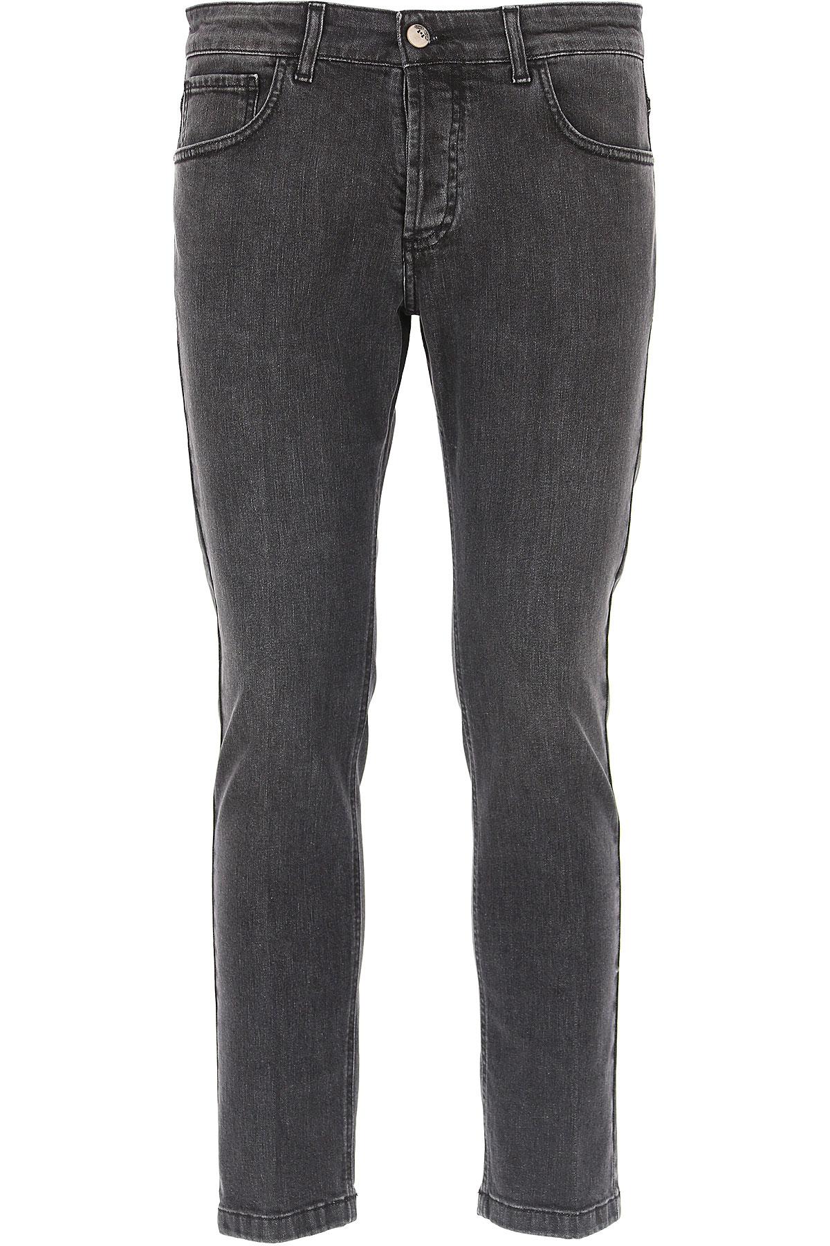 Image of Entre Amis Jeans, Grey, Cotton, 2017, 30 31 32 33 34 35 36 38