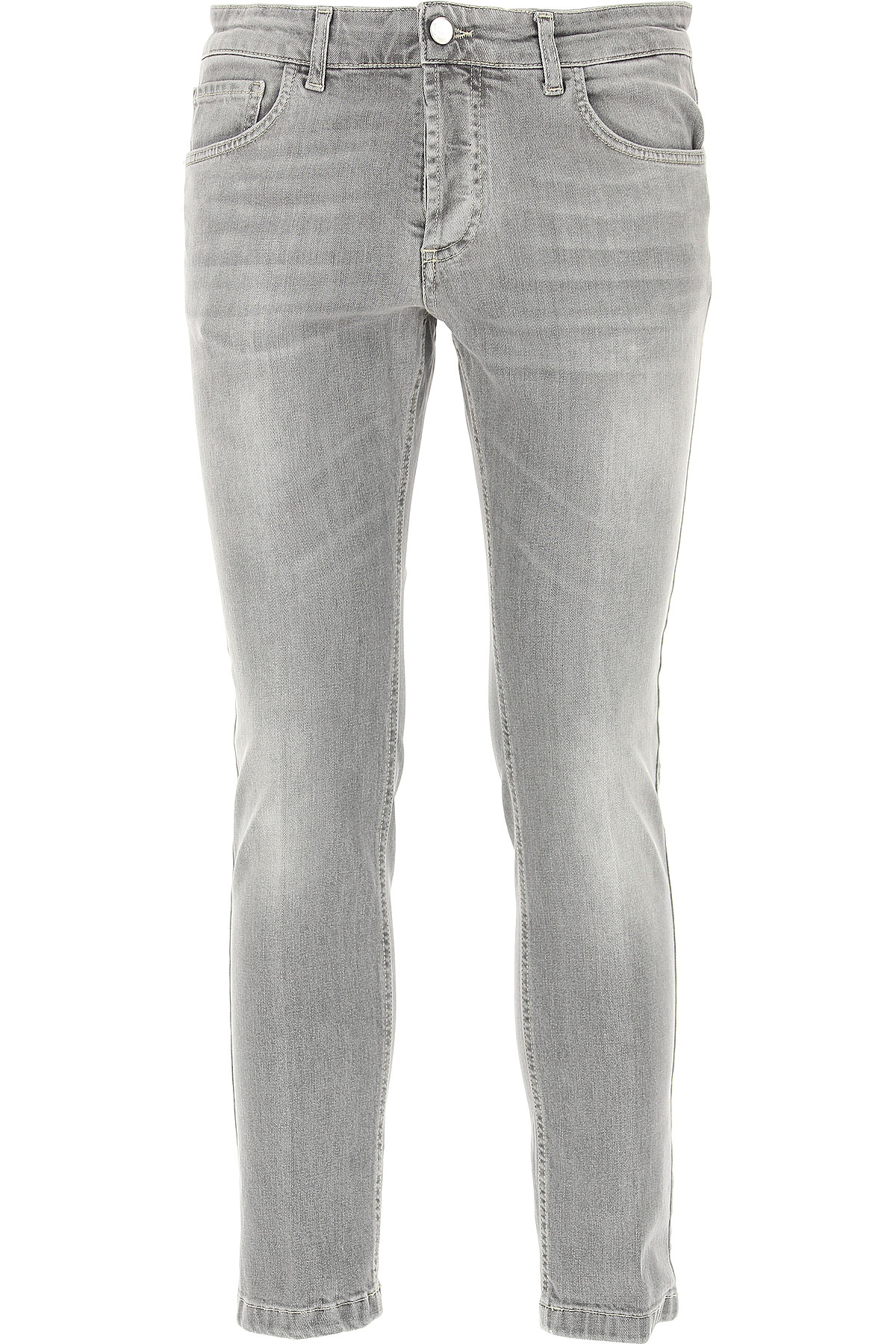 Entre Amis Jeans On Sale in Outlet, Grey, Cotton, 2019, 33 34