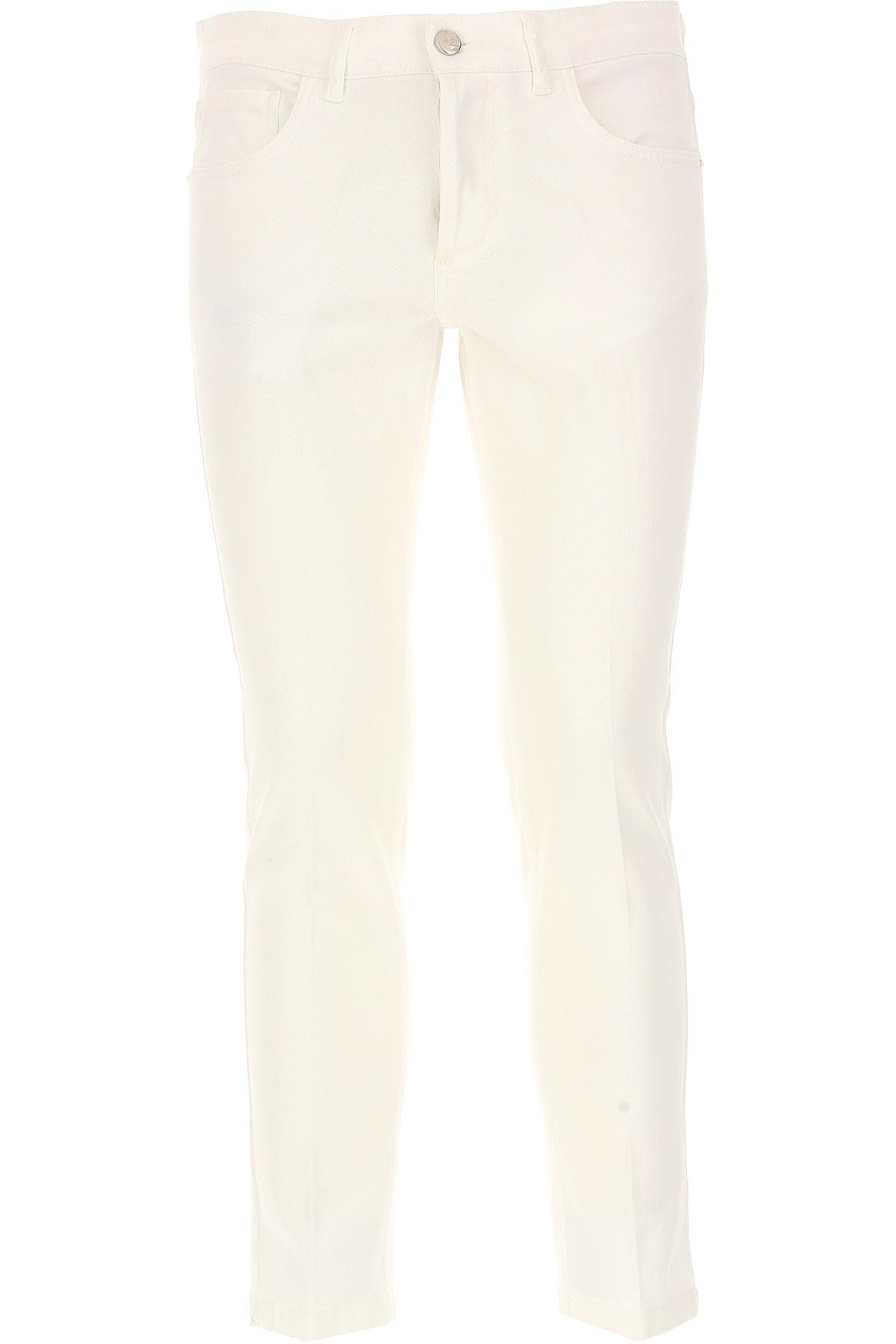 Image of Entre Amis Jeans On Sale, White, Cotton, 2017, 32 35 36