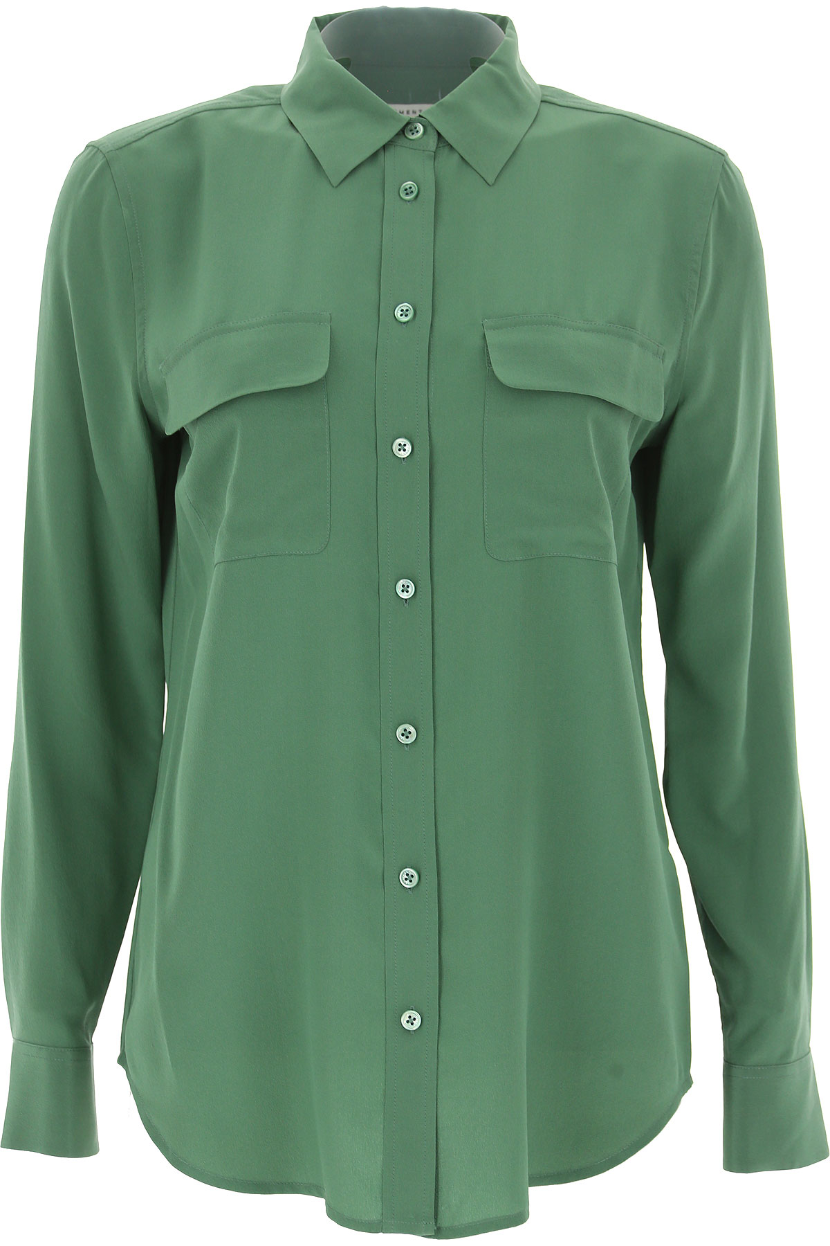 Image of Equipment Femme Shirt for Women, Ivy Green, Silk, 2017, 4 6 8