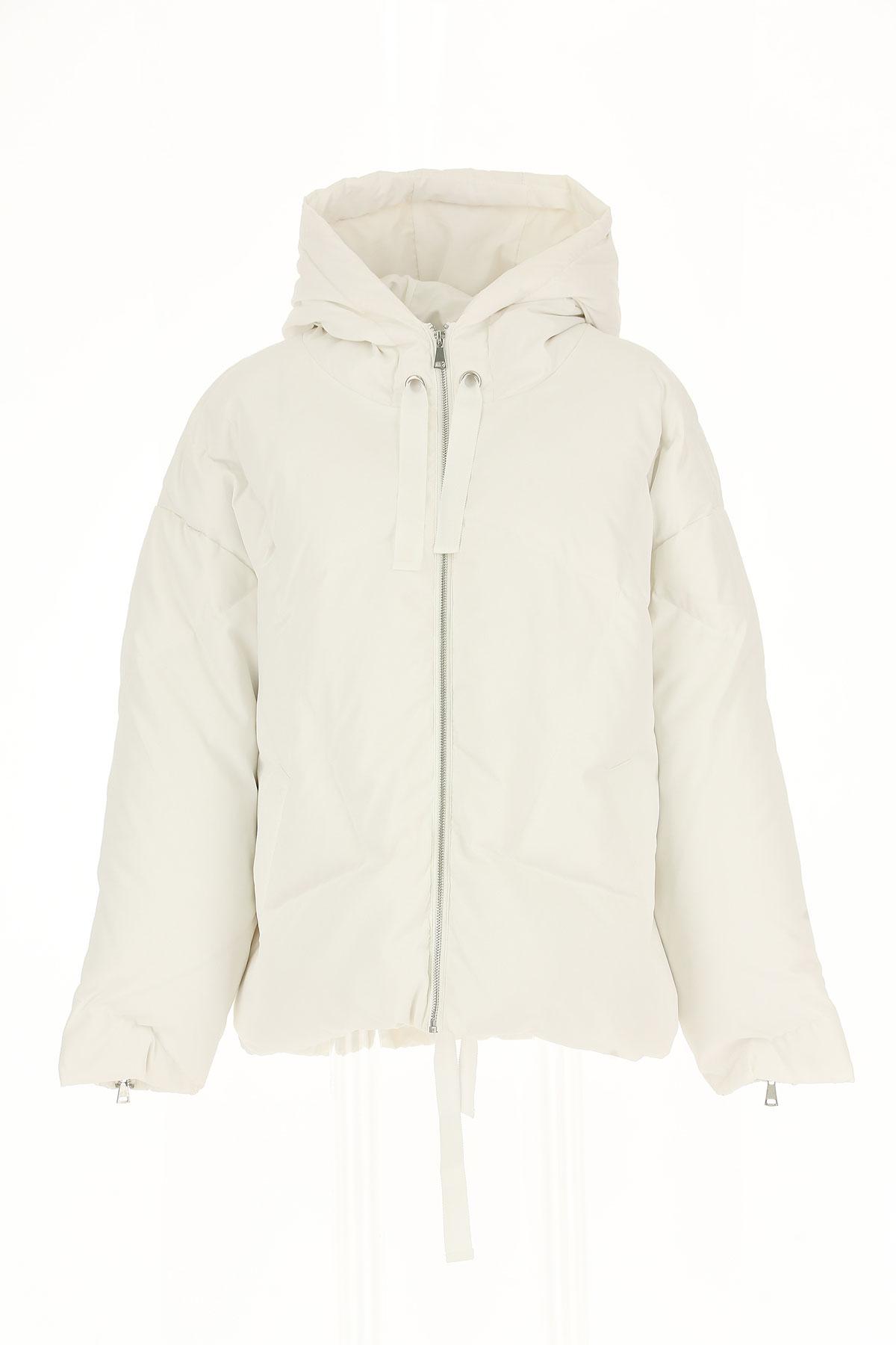 Image of ESSENTIEL Antwerp Down Jacket for Women, Puffer Ski Jacket, White, polyamide, 2017, 4 6