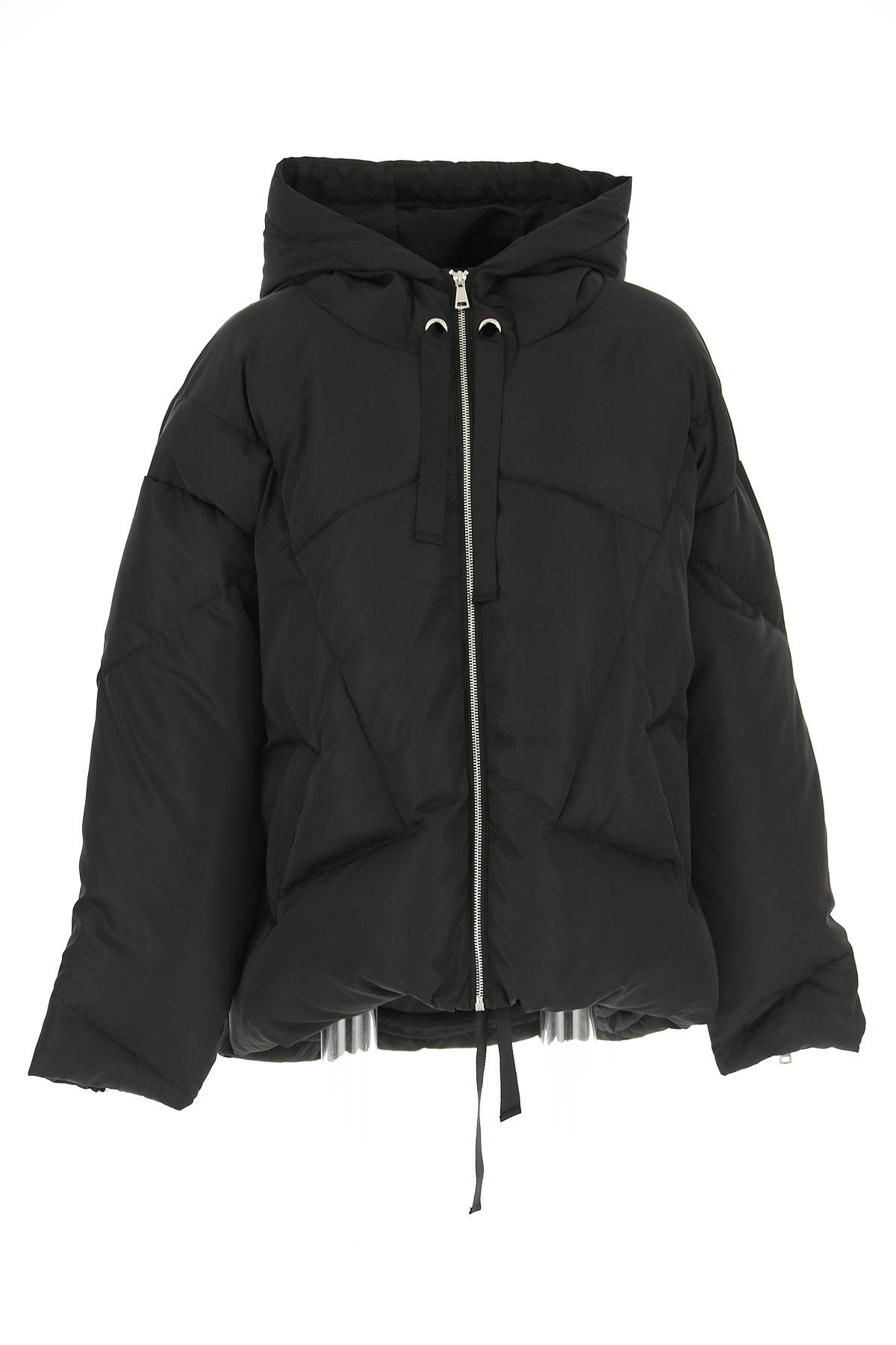 Image of ESSENTIEL Antwerp Down Jacket for Women, Puffer Ski Jacket, Black, polyamide, 2017, 6