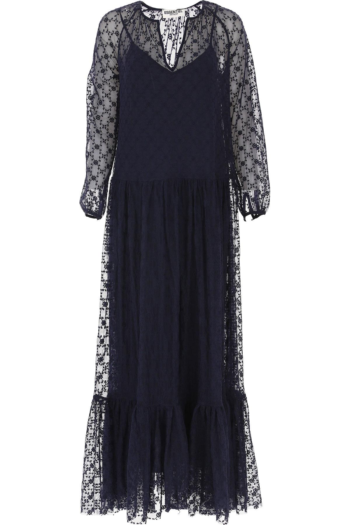 Image of ESSENTIEL Antwerp Dress for Women, Evening Cocktail Party, Blue, Nylon, 2017, 2 34