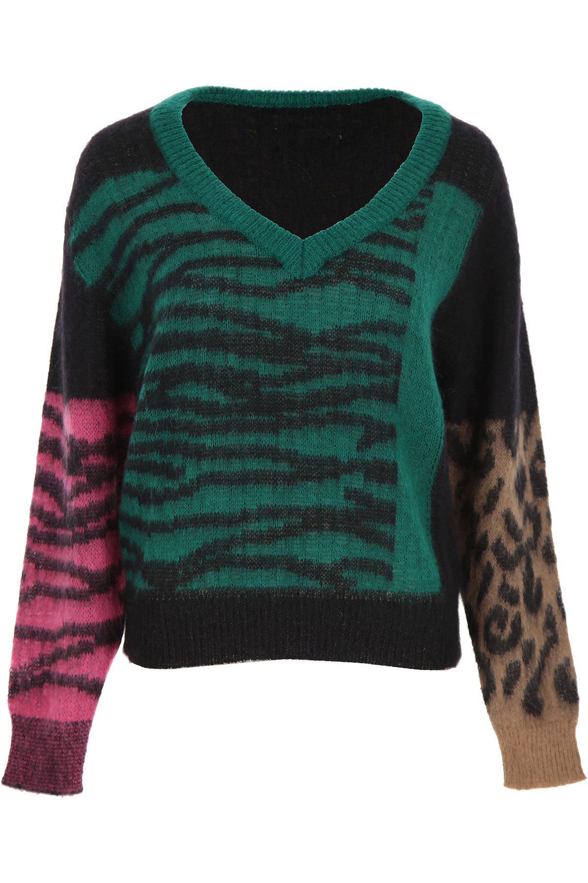 ESSENTIEL Antwerp Sweater for Women Jumper On Sale, Green, polyamide, 2019, 4