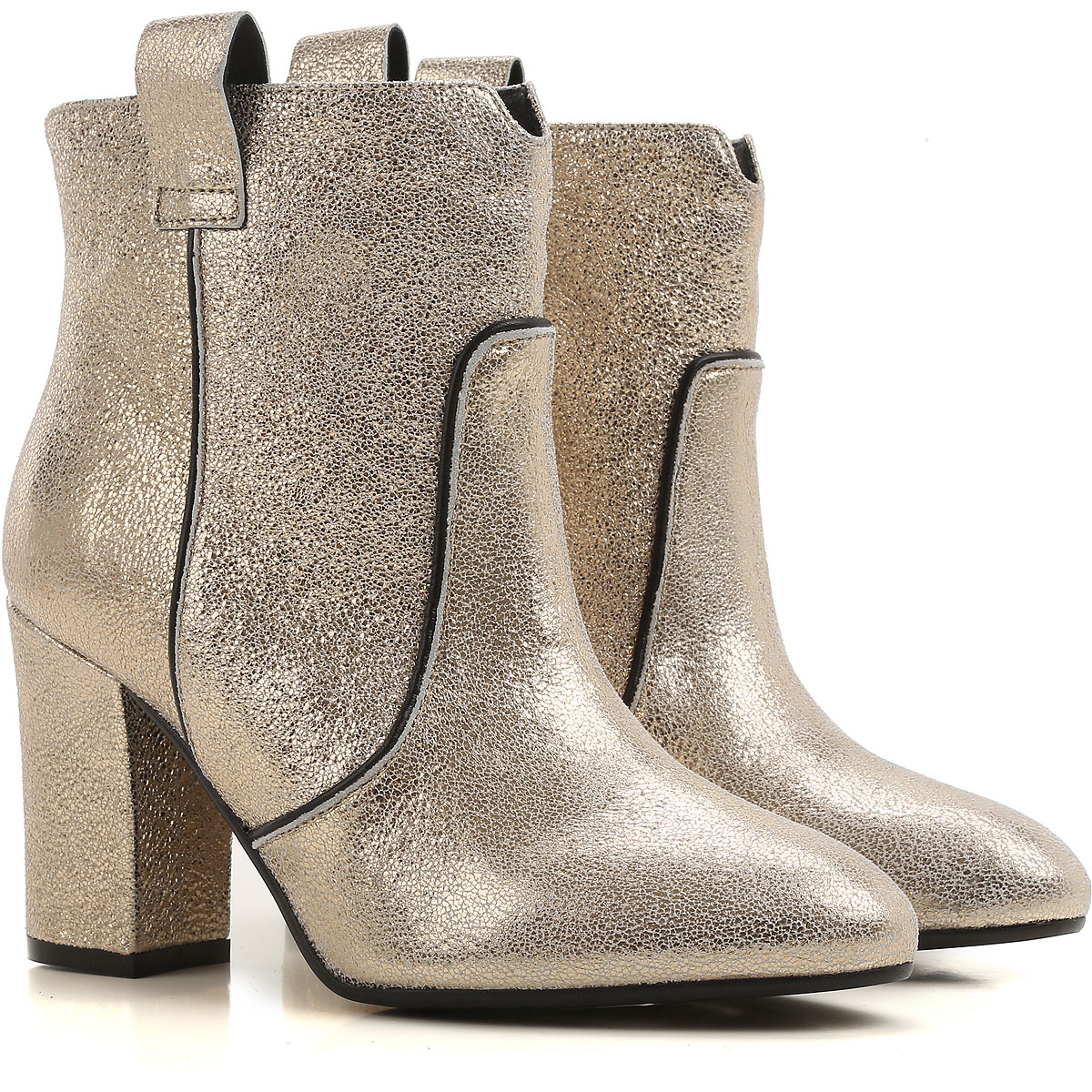 ESSENTIEL Antwerp Boots for Women, Booties On Sale in Outlet, Champagne, Leather, 2019, 8 9