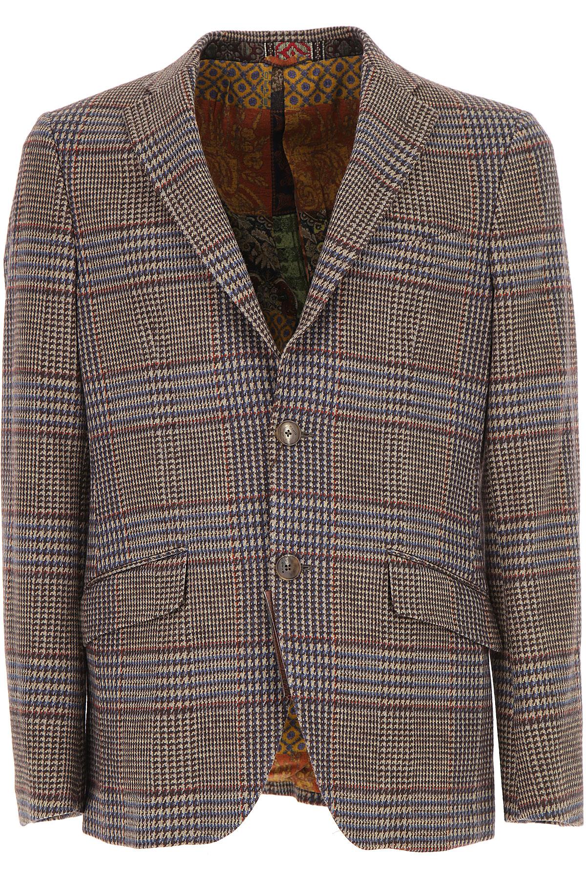 Image of Etro Blazer for Men, Sport Coat, Brown, Cotton, 2017, L M S XL