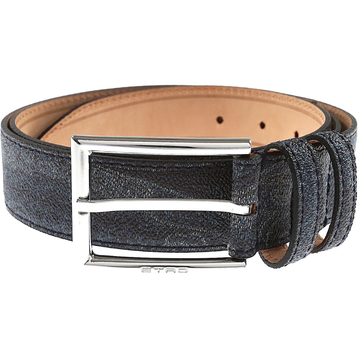 Image of Etro Belts, Bluette, Leather, 2017, 38 42 46