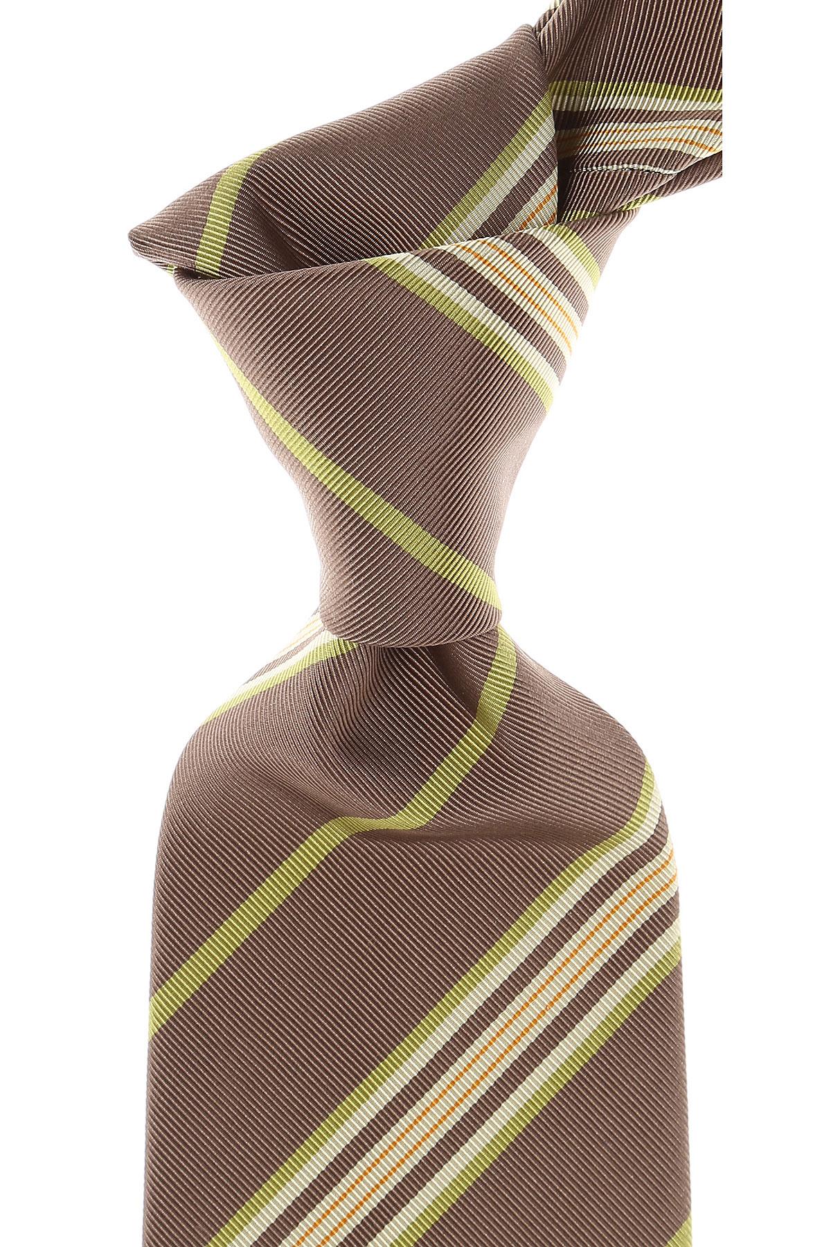 Cravates Etro Pas cher en Soldes, Taupe, Soie, 2017