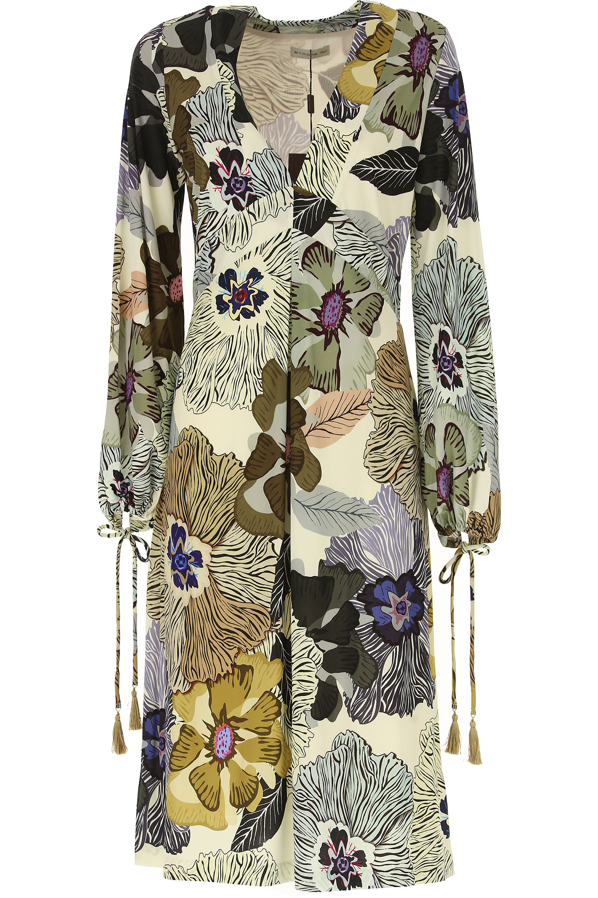 Etro Dress for Women, Evening Cocktail Party, Cream, Viscose, 2019, 10 6 8