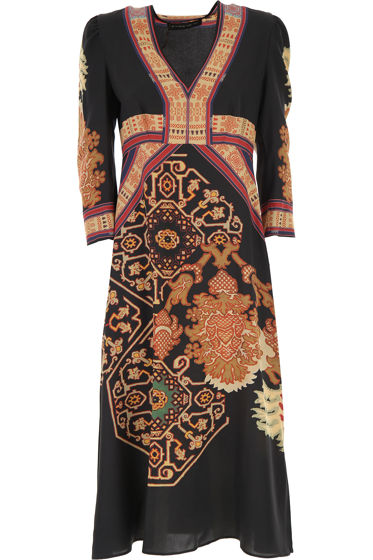 Etro Dress for Women, Evening Cocktail Party On Sale, Black, Silk, 2019, 10 6 8