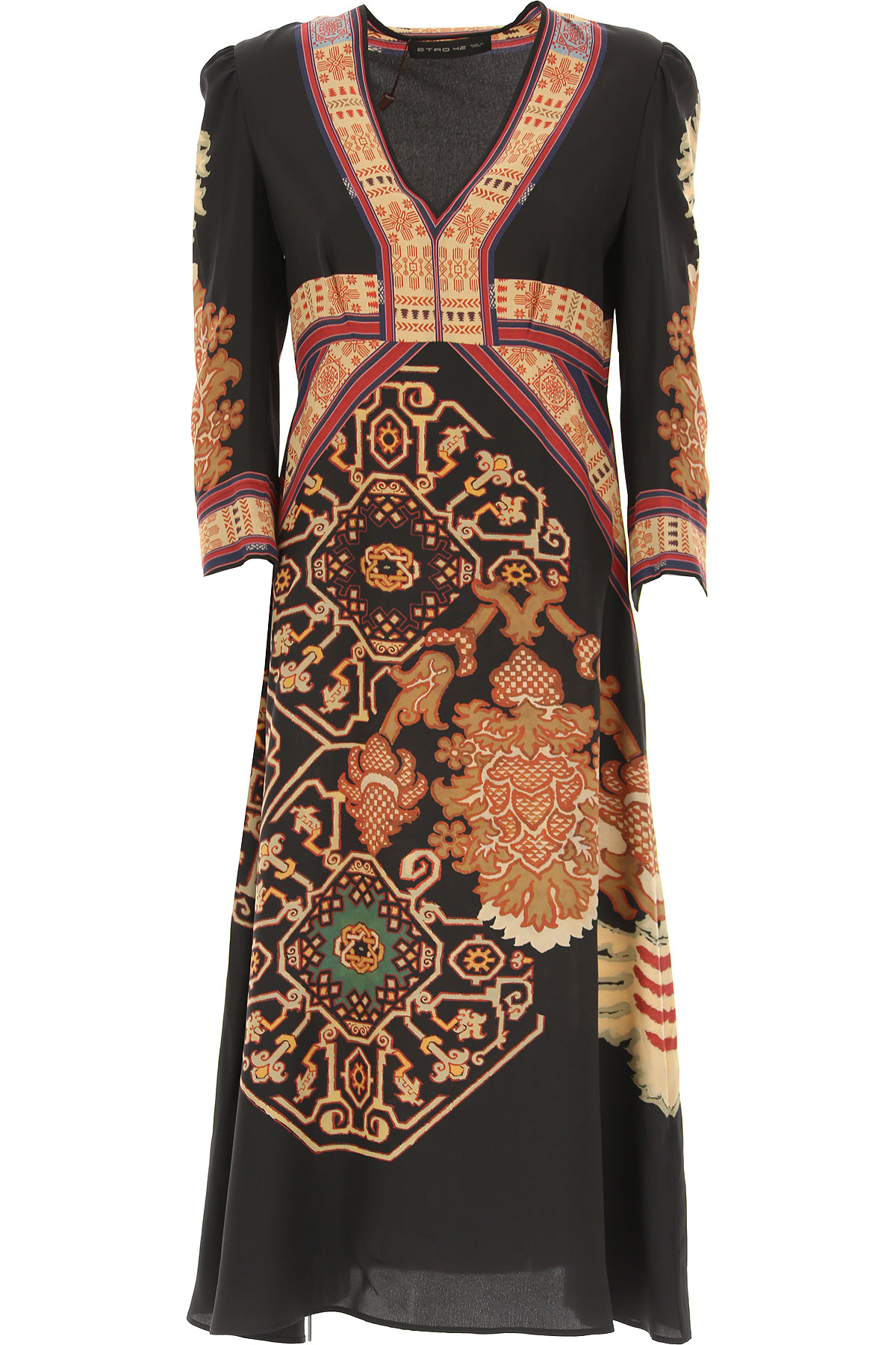 Etro Dress for Women, Evening Cocktail Party, Black, Silk, 2019, 6 8