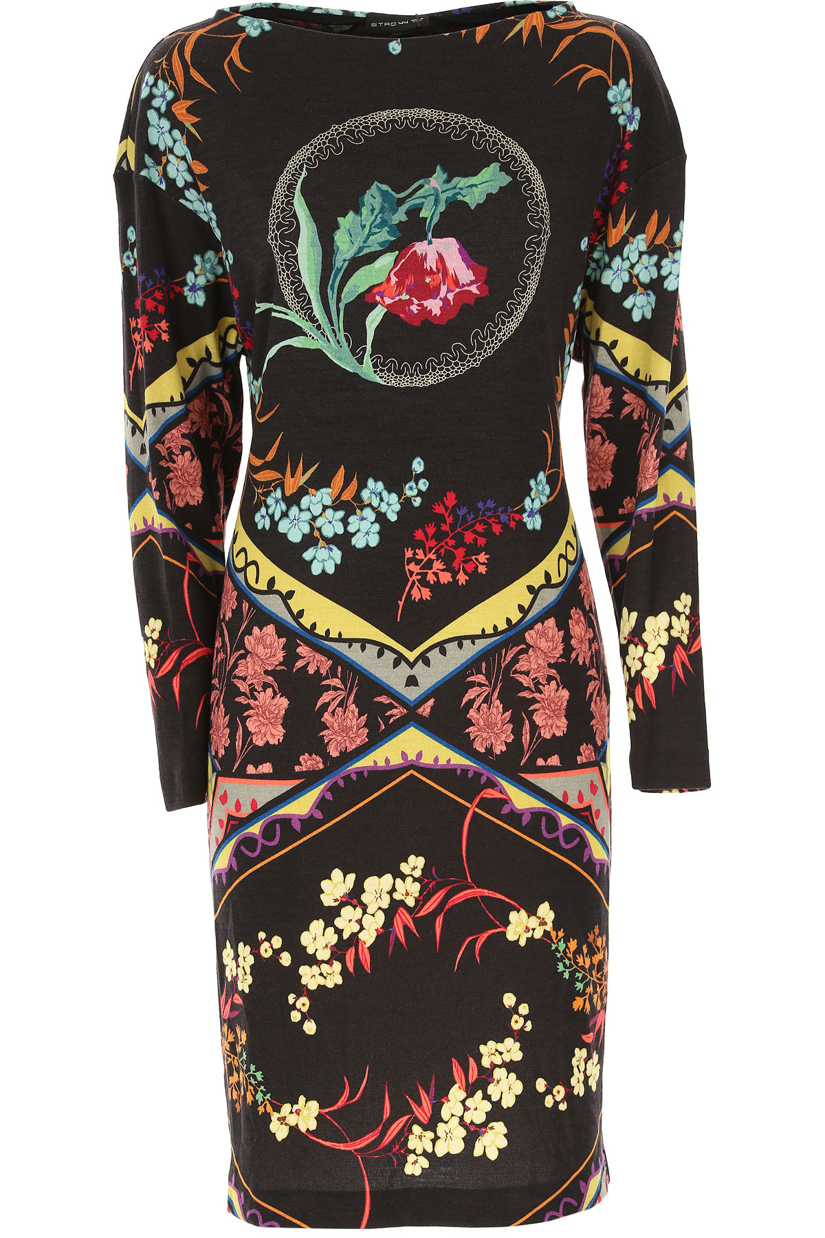 Etro Dress for Women, Evening Cocktail Party On Sale, Black, Wool, 2019, 10 6 8