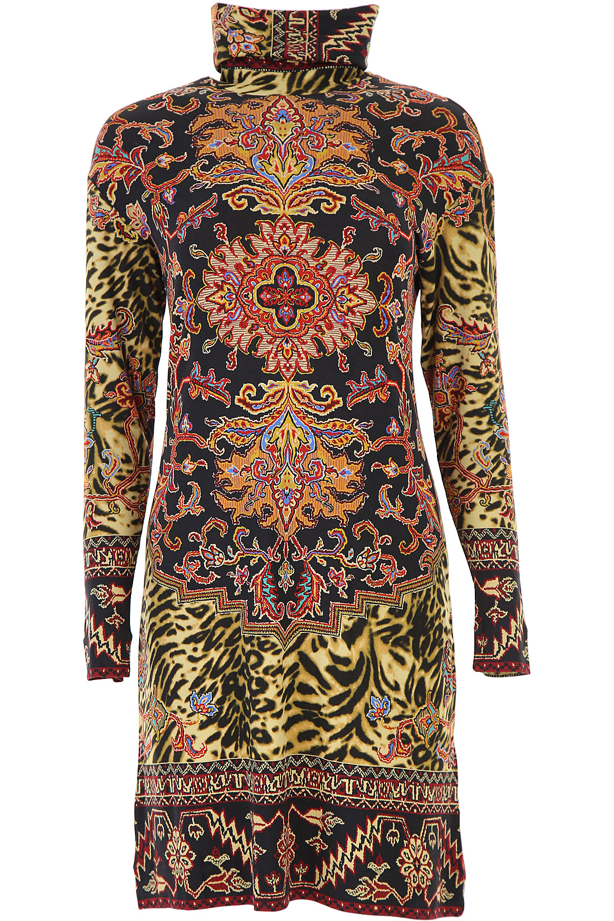 Etro Dress for Women, Evening Cocktail Party On Sale, Black, Viscose, 2019, 6 8