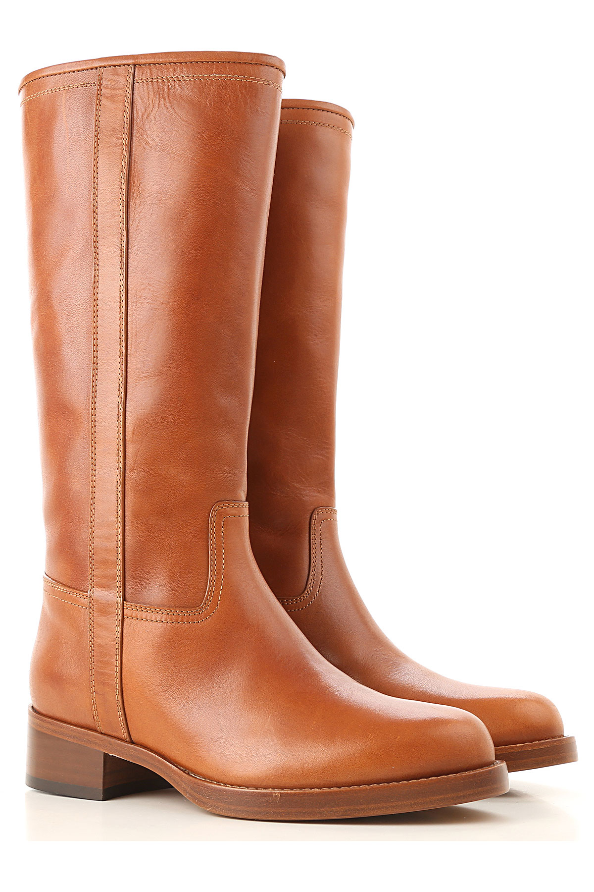 Image of Etro Boots for Women, Booties, Cognac, Leather, 2017, 7 8 8.5 9